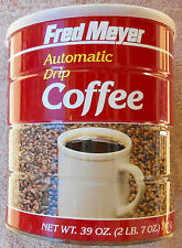 Vintage FRED MEYER 39-oz. Coffee Tin with Plastic Lid