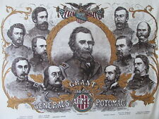 Windham Fabrics CIVIL WAR UNION GENERALS Grant & the Army of the Potomac- panels