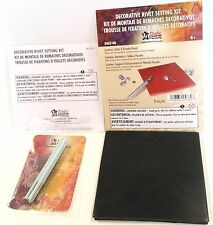 SYNTHETIC GEM RIVET SETTER KIT 3462-00 Tandy Leather Set Rivets Setting Setters