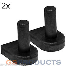 2 x 32mm Gate Hooks to Weld (with Fillet) Gate Pins Field Gate Hanging FREE P+P!