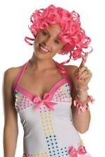 "NEW Secret Wishes Pink Curly Wig Ladies ""Candy Girl"" - Washable, real hair feel"