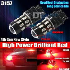 2X 3157 Projector Red 5630 Chip High Power LED Brake Tail Stop Lights Bulbs