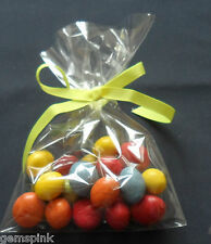 """25 x CLEAR CELLO DISPLAY BAGS FOR LOLLIPOPS CAKE POPS SWEETS 4 x 6"""" (100x150mm)"""