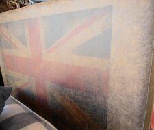 Letto singolo realizzato a mano sfoderabile coloniale British style. NUOVO-UNICO