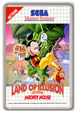 LAND OF ILLUSION  MICKEY MOUSE MASTER SYSTEM FRIDGE MAGNET IMAN NEVERA