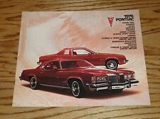 Original 1976 Pontiac Full Line Sales Brochure 76 Firebird Grand Prix