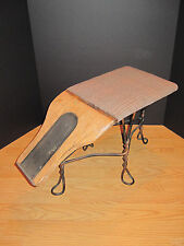 ANTIQUE AMERICAN WOOD IRON SHOE SALEMAN'S CHAIR SIZER INTERIOR DECORATE GQ MEN