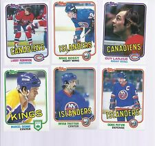 1981-82 Topps Hockey Star Lot 642 cards  Stars only