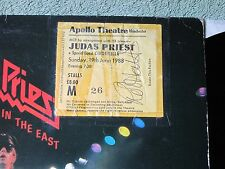 JUDAS PRIEST unleashed in the east CBS LP + AUTOGRAPHED GIG TICKET CBS 83852!