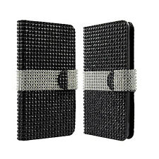 For Alcatel OneTouch Elevate Premium Bling Diamond Wallet Case Flip Pouch Cover
