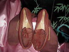 NWB Men's  DEER CREEK Genuine Deerskin Loafers with Shoe Bags 15 M