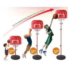 Adjustable Basketball Back Board Stand  Hoop Set For Children Kids Xmas Gift Toy