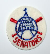 Vintage Washington Senators Baseball Team Logo Jacket Hat Patch New NOS 1970s