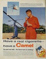 1958 Camel Cigarette Ad 1 Man Marines Whirlybird Copter