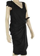 Dress Black Silk Roman Cut NEW w Tags Size 10 Miss Money Penny