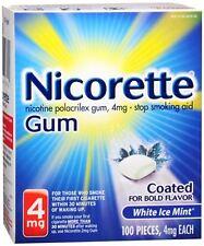 Nicorette 4 mg Coated White Ice Mint 100 Each