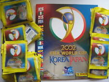 Panini 2002 Fifa Korea Japan World Cup stickers 100 packs + album