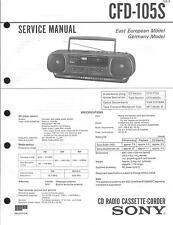 Sony Original Service Manual für CFD-105 S