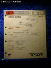 Sony Service Manual ST 707RM Tuner  (#2347)