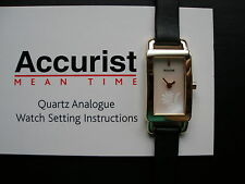 LADYS GOLD PLATED ACCURIST WATCH ON STRAP BRAND NEW IN BOX WITH 3 YEAR GUARANTEE
