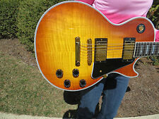 Gibson Custom Shop Les Paul Custom Sunrise Teaburst Flame 2010 EBONY FRETBOARD