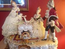 Unterweissbach Dresden Porcelain Lace Figurine Musical Group Piano