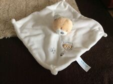 Tiny Treasures TEDDY BEAR CREAM COMFORTER BLANKIE Baby Soother Soft Plush Toy
