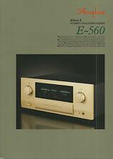 Accuphase e-560 Catalogo Prospetto Catalogue datasheet brochure