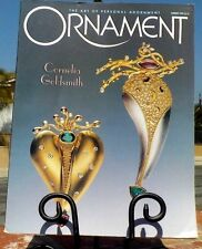 ORNAMENT MAGAZINE VOL 21 NO.4 SUMMER 1998 POLYMER & FOIL BEAD K LOGAN FREE SHIP