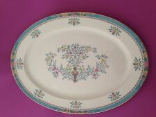 Lenox Blue Tree China 17 x 12-5/8 Inch Oval Serving Platter Gold Backstamp