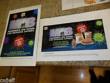 2 LOT MIB MEN IN BLACK PROOF POSTERS COLLECT ALL 12 TOYS BURGER KING CANADA
