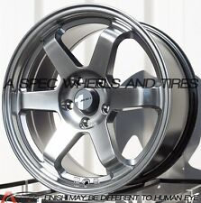 HYPER BLACK AVID.1 AV06 17X8 +35 5X114.3 WHEEL FIT MAZDA 3 6 CIVIC SI TL 5x4.5