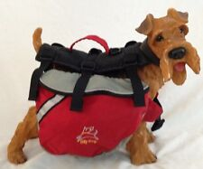 """Red Black 11X19"""" Large Pet Dog Cat Harnes OLLYDOG Backpack With 2 Compartments"""