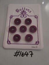 #1647 lotto di 7 pulsanti Viola