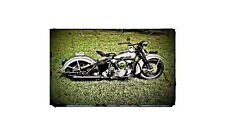 1947 Knucklehead Bike Motorcycle A4 Photo Poster