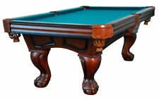 8 foot POOL TABLE with BALL & CLAW LEG in WALNUT by BERNER BILLIARDS ~ BRAND NEW