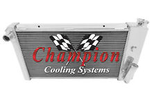 New Aluminum Radiator 3 Row Champion Cooling Systems CC432 71-74 Chevrolet Vega