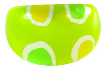 60's INSPIRED LIME GREEN PLASTIC BUBBLE RING SEMI CIRCLE DETAILING (ZX2/226)