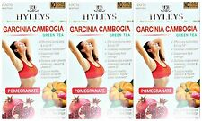 3 PACK OF Hyleys 100% Natural Slim Green Tea Garcinia Cambogia and Pomegranate