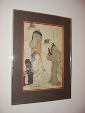 Japanese Women Female Partial Nude Framed Wall Art