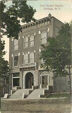 Vintage Postcard New Temple Theater Carthage NY New York Jefferson County