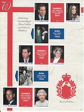 Sierra Leone 2011 MNH Royal Wedding 4v M/S Prince William Kate Middleton
