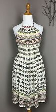 Touch Luxe Silk Halter 'Smiley' Smocked Backless Party Dress 0/2/4/6