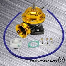 "UNIVERSAL 2.5"" TYPE-RS STYLE PULL TYPE BOV TURBO CHARGED BLOW OFF VALVE GOLD"