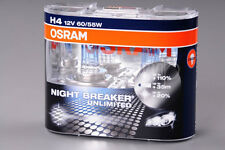 100% Original Osram Night Breaker Unlimited Headlight Bulbs Bulb H4