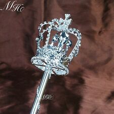 Cross Imperial Medieval Scepters Wand Silver Sceptre Pageant Party Costumes Prop