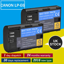 2XLP-E6 LP E6 Battery Pack For Canon MARK 2 II MARK 3 III EOS 60D 70D 7D 6D UK