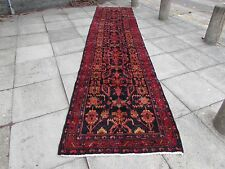 Old Traditional Hand Made Persian Oriental Wool Blue 16 F Long Runner 485x110cm