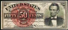 US 50c FRACTIONAL CURRENCY 1863 LINCOLN 4th ISSUE FR-1374 PCGS CHOICE NEW PPQ63