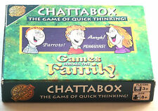 Vintage 1998 Chattabox Game-Cheatwell Games-RARE The Game of quick Thinking